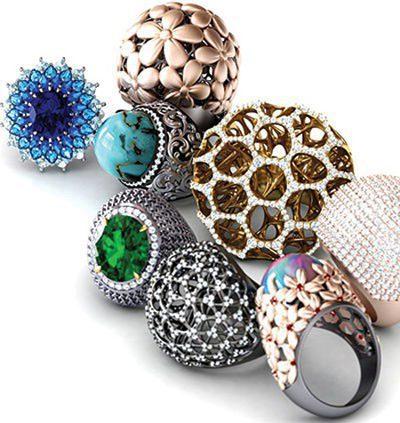 عجیب ترین و متفاوت ترین انگشترهای جواهر و بدلیجات
