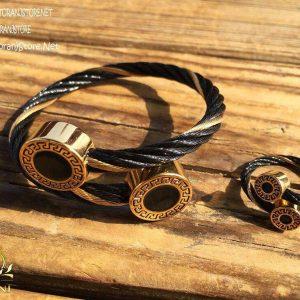 خرید ست دستبند و انگشتر سیمی زنانه