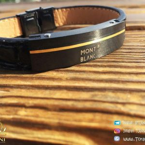 خرید دستبند چرمی مردانه مونت بلانک