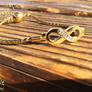 خرید دستبند زنانه مارشالی طرح بینهایت یا اینفینیتی