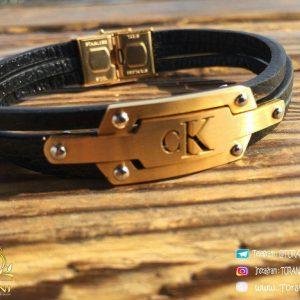 خرید دستبند چرمی مردانه مارک cK