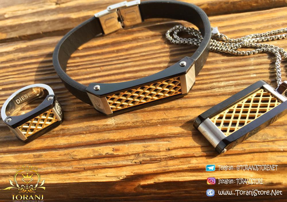 خرید ست دستبند انگشتر و گردنبند Diesel
