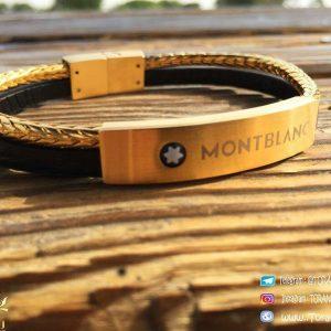 خرید دستبند چرمی مونت بلانک MontBlanc